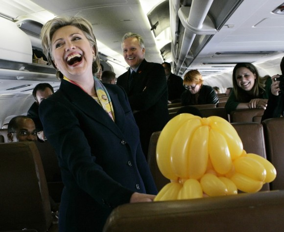 Hillary Clinton Having Fun