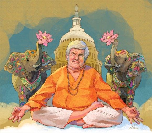 Newt Gingrich the artist