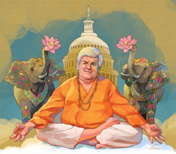 Newt Gingrich the artist