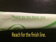 reach for the finish line