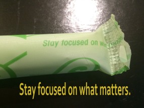 stay focused on what matters